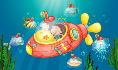 Wall Murals Submarine Submarine adventure