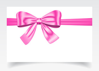 Gift card with pink bow