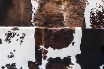 Cow hides close up