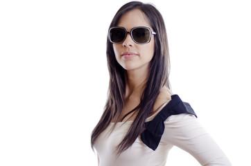 Cute sexy woman wearing sunglasses