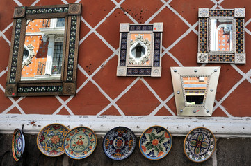 Mirrors in Puebla city streets