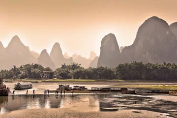 Foto auf AluDibond China La rivière Li près de Yangshuo - Guangxi, China