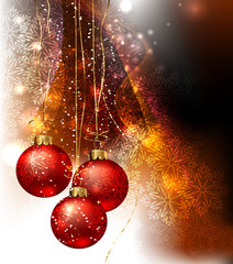 Christmas abstraction. Vector illustration for design