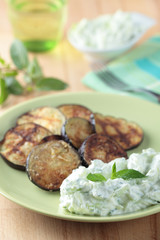Tzatziki and roasted eggplant