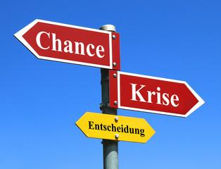 Chance ergreifen oder in der Krise bleiben?