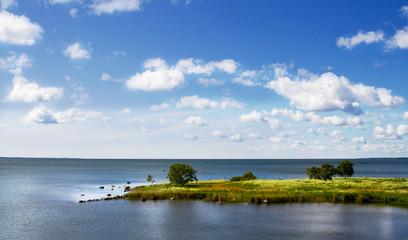 Landscape over the sea.