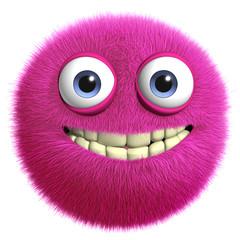 Türaufkleber Nette Monster pink toy