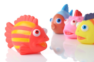 colorful rubber fish society - boss