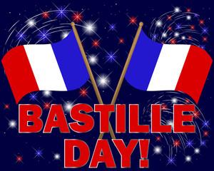 Bastille Day background.
