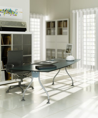 Contemporary designed office (focused)
