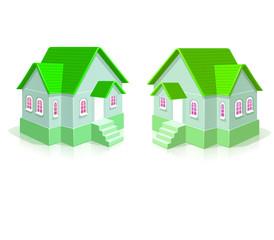 Maisons écolos en 3D