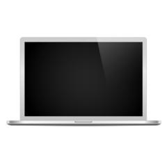 Laptop isolated 2 on white