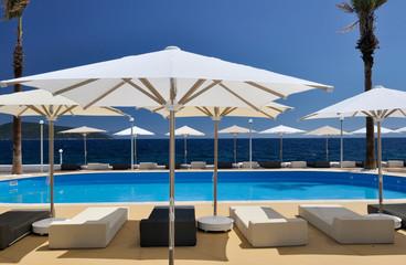 summer resort at the Mediterranean sea