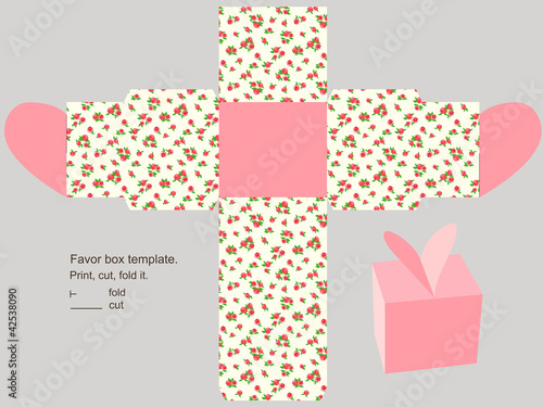"Gift box template"" Stock image and royalty-free vector files on ..."