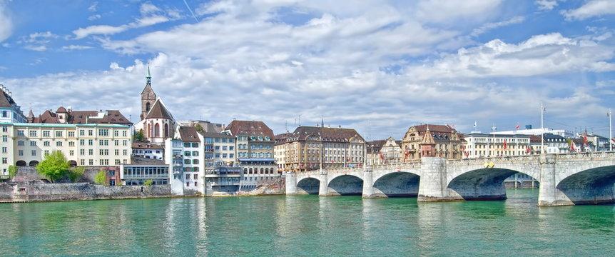 Stadtpanorama Basel, Schweiz