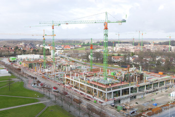 Construction site of University