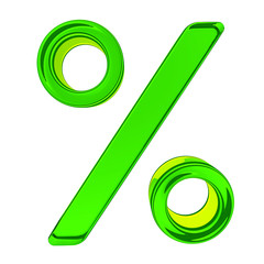 Glass percent sign