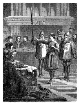 Joan of Arc : Procès - Trial - Prozess (15th century)