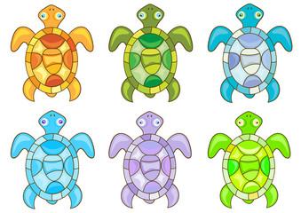 Cartoon turtles