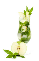 Classic Virgin Mojito summer with apple