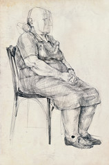 an old woman pose