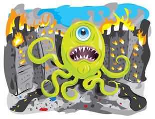 Aluminium Prints Creatures Invasion