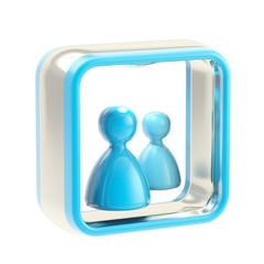 Communication application icon emblem isolated