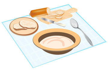 Products feeding on tablecloths