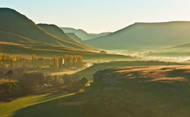 Staande foto Zuid Afrika Sunrise in the sun valley