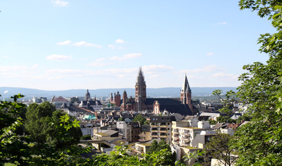 The view over Mainz, Germany
