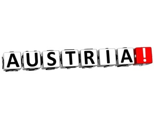 3D Austria Button Click Here Block Text