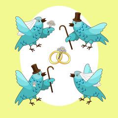 bird's wedding