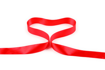 Red Support Ribbon on white background