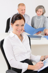 Professional businesswoman attractive in office