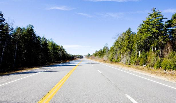 road, Maine, USA