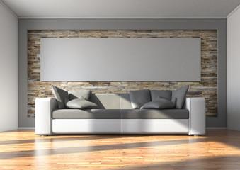 Sofa mit Panoramabild