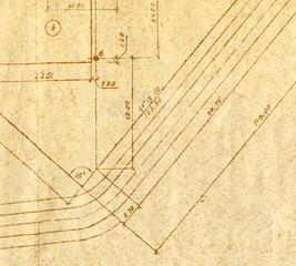 Vintage engineering chart
