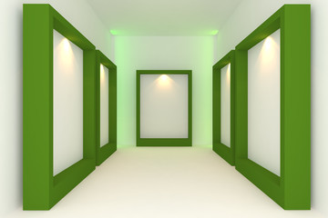 green frame in the gallery