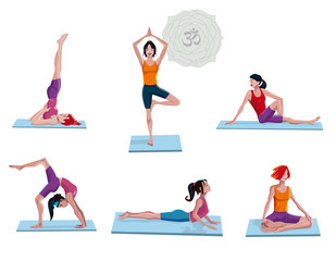 Women Practicing Yoga