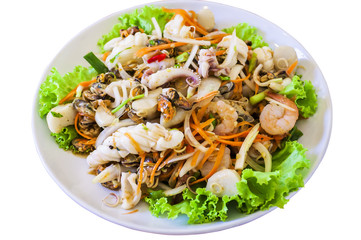 CLIPPING PART. Thai style salad seafood