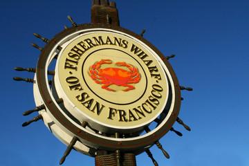 Deurstickers San Francisco San Francisco Fishermans Wharf Sign