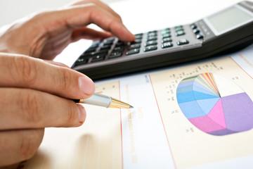 Businessman accounting