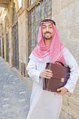 Arab on the street in summer