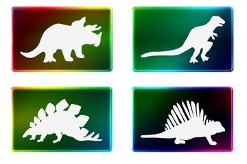 Rectangulo formas dinosaurios