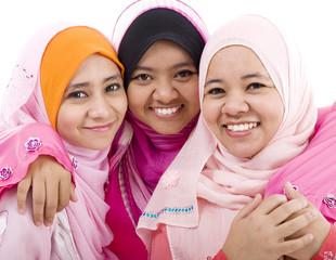 cheerful muslim women