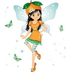 Keuken foto achterwand Magische wereld Fatina arancia-Orange fairy