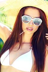 Summer woman in swimsuit