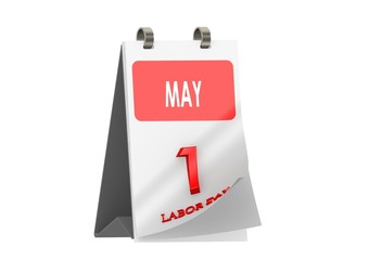 Calendar MAY 1, Labor Day
