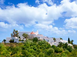 Ibiza Santa Eulalia des Riu with houses typical town