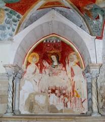 Cattedrale di Trani: Affresco nella cripta S. Maria